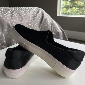 Alex Alex black platform slide-on sneakers